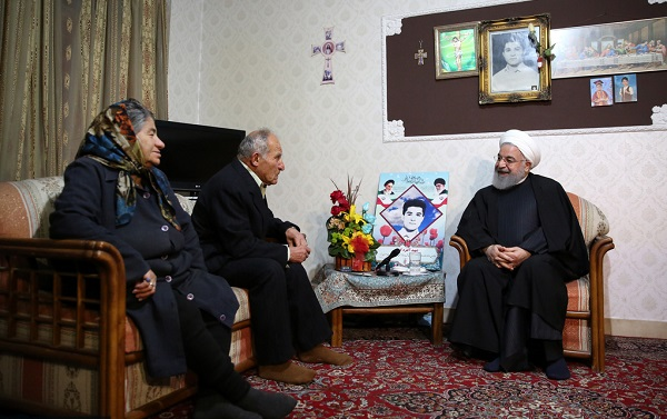 President Hassan Rouhani met with the family of Armenian martyr Alfred Gabri in Tehran