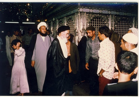 Why did Imam Khomeini use to visit holy shrine in Najaf daily?