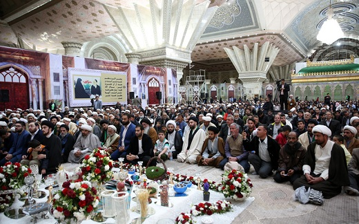 A ceremony held at Imam Khomeini's holy shrine marking new Persian Year