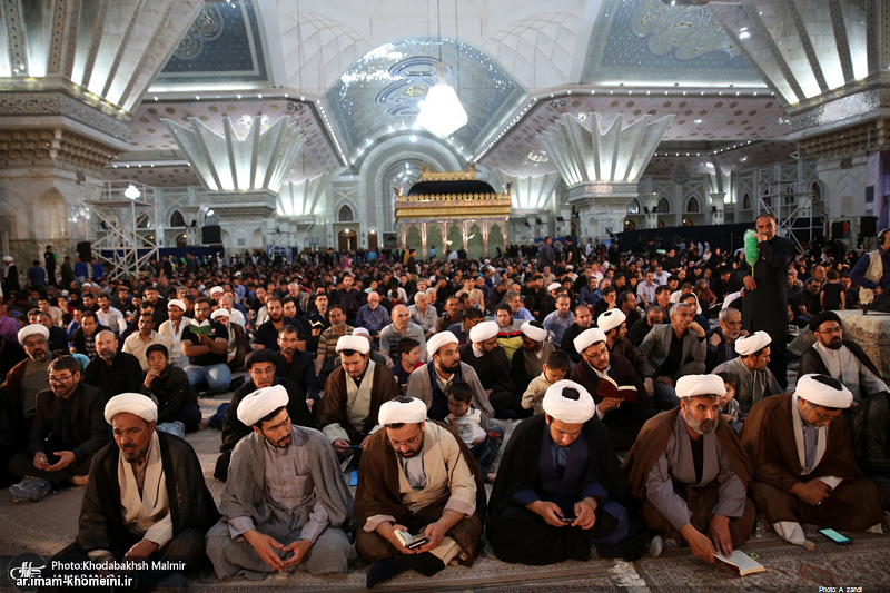 A spiritual ceremony at Imam Khomeini's holy shrine on the 19th night of blessed month of Ramadan