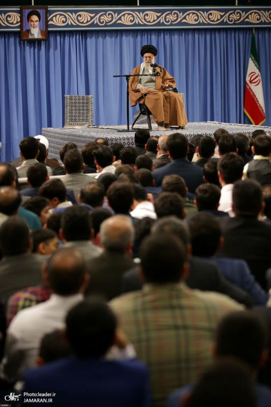 Members of Iran`s Islamic Revolution Guards Corps (IRGC) meet the leader