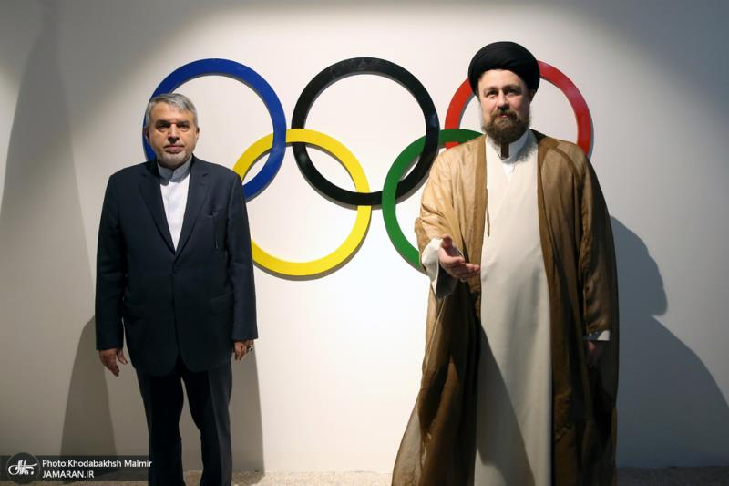 Seyyed Hassan Khomeini visit museum of Olympic and Paralympic sports
