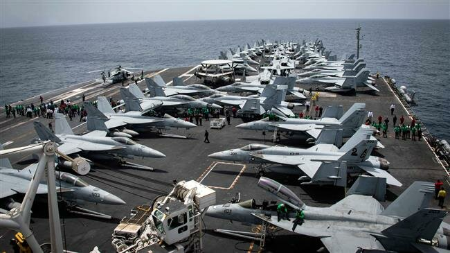 US warship staying far away for fear of Iranian military strikes