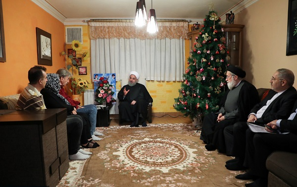 President Rouhani visited Armenian wounded war veteran Hasou Keshish Danilian