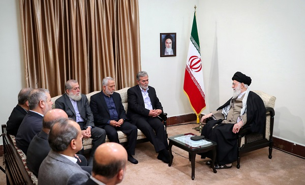 The leader received Secretary General of the Palestinian Islamic Jihad resistance movement Ziad al-Nakhala and his delegation in Tehran