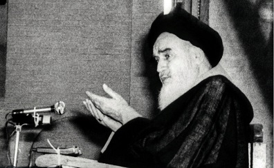 Imam Khomeini remained calm as electric wires caught fire