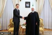 Syrian president holds meeting with Iranian President Hassan Rouhani