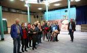 A group of foreign tourists visit Imam Khomeini's historic residence and Jamaran Art gallery