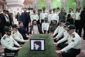 Military commanders pledge allegiance with Imam Khomeini, the late founder of the Islamic Republic