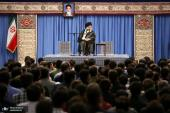 Iranian students, exceptional talents and young prodigies meet the leader