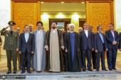Mr. President and his cabinet renew their pledge to the causes of Imam Khomeini