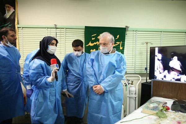 Iranian health minister visits Jamaran complex and hospital