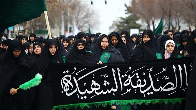 Iranians take part in mourning commemorations for the martyrdom anniversary of Hazrat Fatemeh (PBUH)