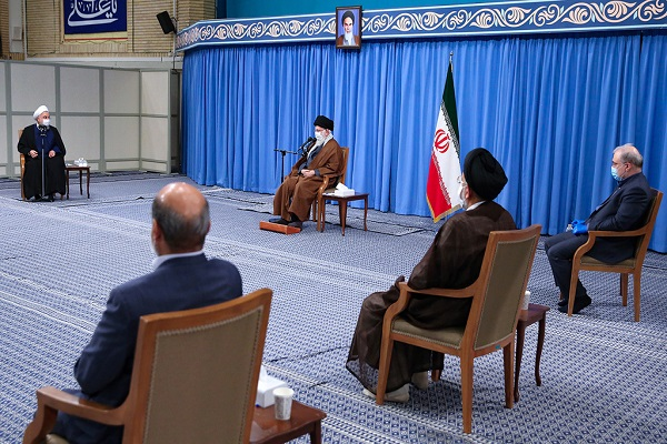 The members of task force to handle the coronavirus meet supreme leader of Iran
