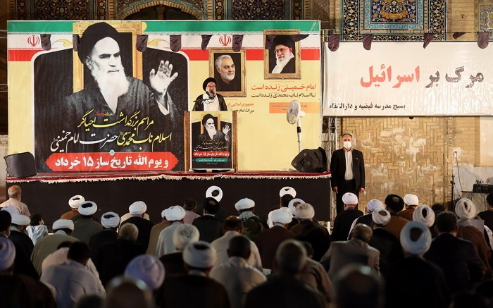 A ceremony to mark 31st passing anniversary of Imam Khomeini held at Faidiah ceremony in the holy Iranian city of Qom
