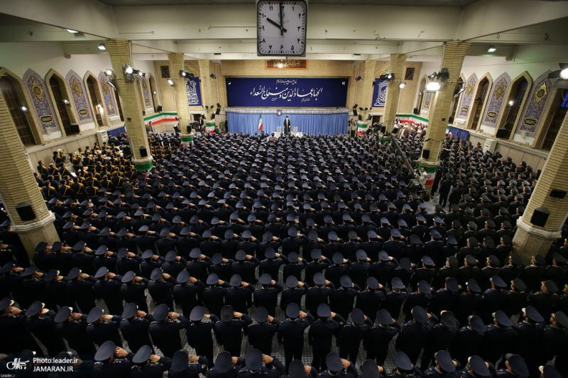 Leader of Islamic Revolution Ayatollah Seyyed Ali Khamenei meets Iranian Air force commanders and personnel