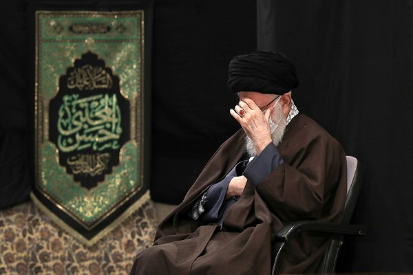 A ceremony with the presence of the leader marking the martyrdom of the holy prophet of Islam and Imam Hassan