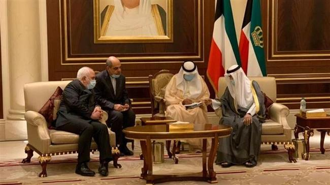 Iranian Foreign Minister  Zarif asserts Iran`s support for Kuwait in meeting with new emir