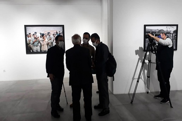 "The inauguration of photo exhibition under title of ""sons of Rouhollah"", which coincides with the last day of Sacred Defense week"