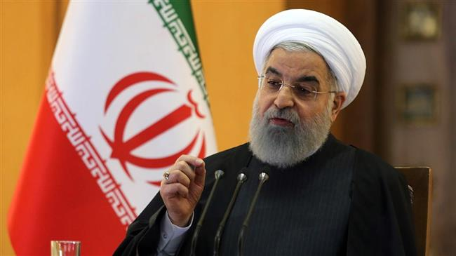 President Rouhani says Iranians defeated America's knee-to-neck policy through unity