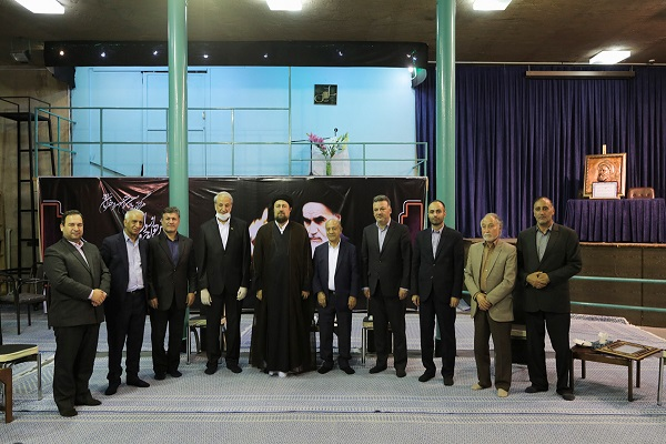 Charity workers and school builders meet Seyyed Hassan Khomeini, the grandson of the late founder of the Islamic Republic  in  Jamaran