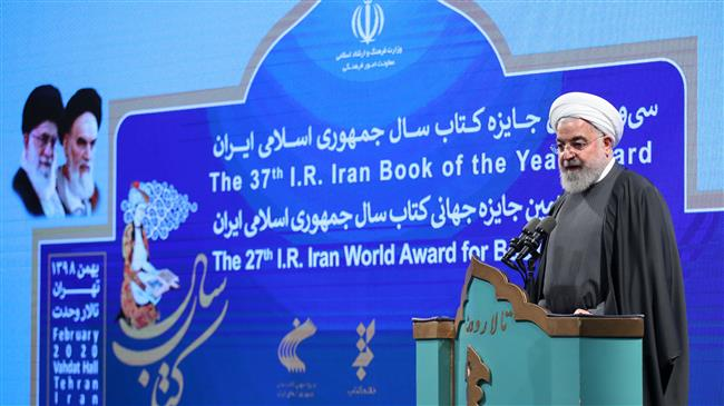 President Rouhani says terrorist US committing terrorism against Iran