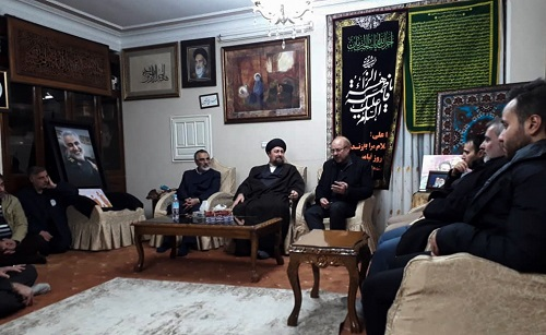 Seyyed Hassan Khomeini visits family of assassinated General Soleimani