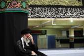 Supreme leader in ceremonies held to remember Imam's Hossein (PBUH)'s sacrifices at Imam Khomeini's Hosseiniah