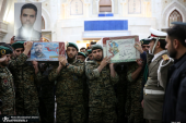 A farewell ceremony with the bodies of the the resistance martyrs at the holy mausoleum of Imam Khomeini