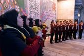 A religious gathering to mark the birth anniversary of the holy Lady Fatima (PBUH) and Imam Khomeini