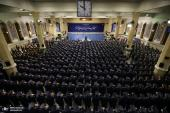 Leader of Islamic Revolution Ayatollah Seyyed Ali Khamenei meets Iranian Air force commanders and personnel