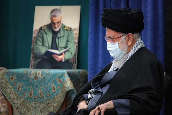 The mourning ceremony held in remembrance of holy Lady Fatima (PBUH) at Hosseiniah Imam Khomeini in presence of the leader