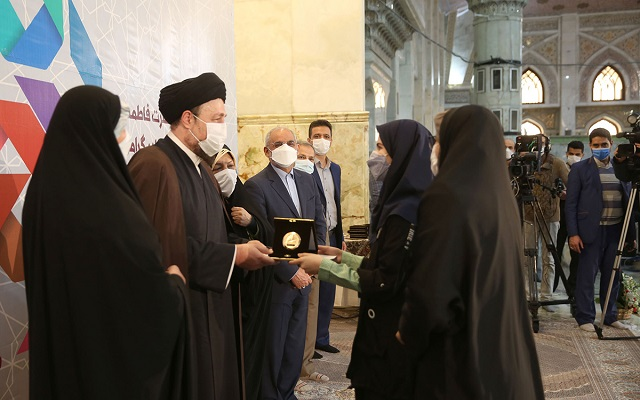 Closing ceremony of first female cultural and art festival at Imam Khomeini's shrine