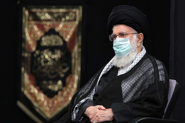 The nightly mourning ceremony to mark Ashura held at Imam Khomeini's Hosseiniah with the presence of the leader