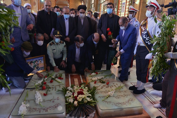 A ceremony to mark the anniversary of the 1981 assassination of then president Rajaei and former prime minister  Bahonar at Behesht-e-Zahra cemetery