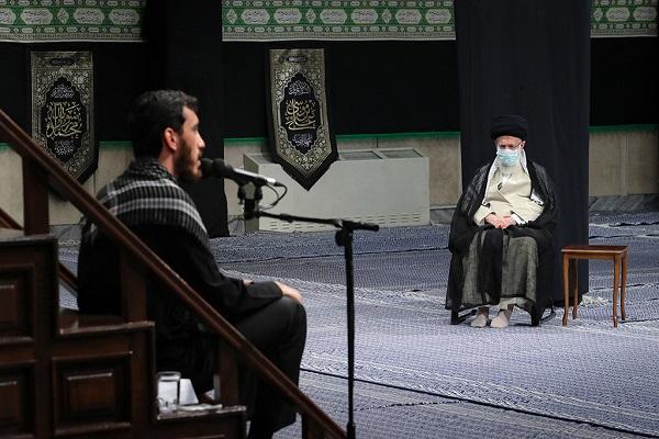 A spiritual gathering organized with presence of leader to mark martyrdom of Imam Rida (PBUH)