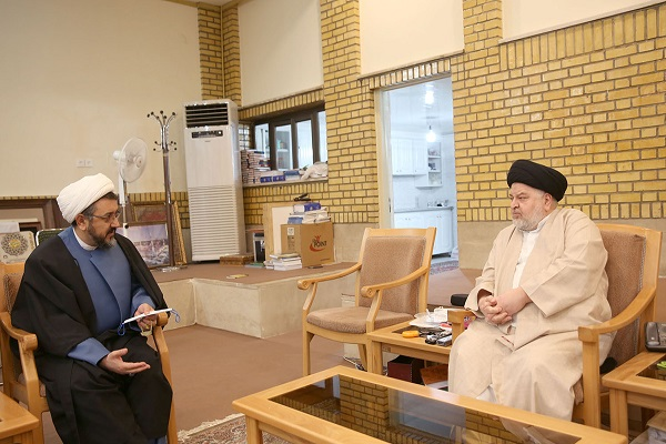 Deputy Head of the institute for compilation and publication of works meet representative of Grand Ayatollah Sistani