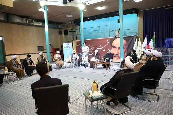 A gathering to review today's reading of the Clergy Charter held in Hosseiniyeh Jamaran