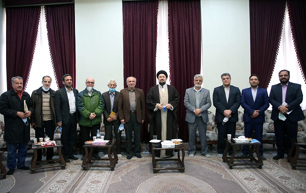 The members of executive council of the university professors' association meet Seyyed Hassan Khomeini