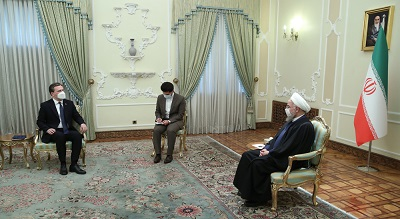 President Rouhani says Sanctions removal world's chance for more economic cooperation with Iran