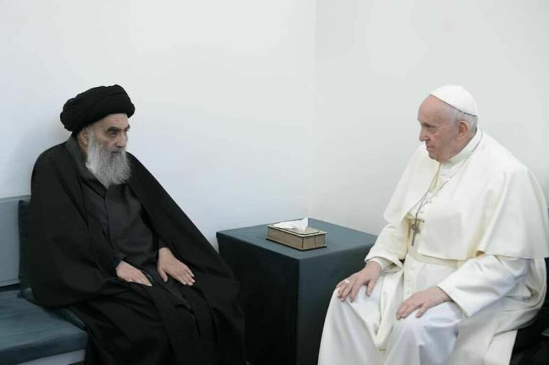 Pope Francis meets with Ayatollah Sistani in Najaf during visit to Iraq