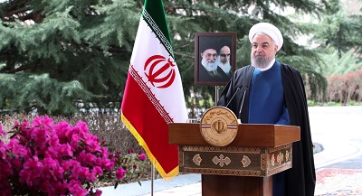 President Rouhani says  enemies cannot speak to Iranians with 'language of force, threat'