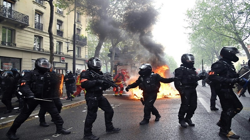 Workers mark May Day with protest rallies in France, Spain, Germany