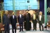 Minister of Education Mohsen Haji-Mirzaei meets Seyyed Hassan Khomeini