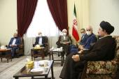 Academics and vice-chancellors of universities vow allegiance to Imam's ideals and meet Seyyed Hassan Khomeini