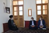 The head of expediency council visits Imam Khomeini's birthplace and ancestral residence