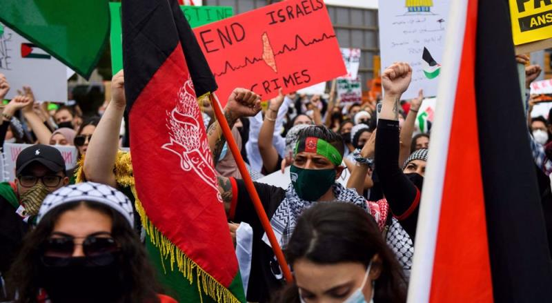 Protesters in US cities urge Israel to end bloodshed in Palestine