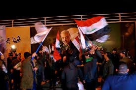 Thousands of mourners in Baghdad join  march in remembrance of Gen. Qassem Soleimani