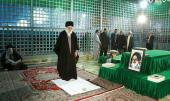 Supreme Leader of the Revolution Makes a Pilgrimage to Imam