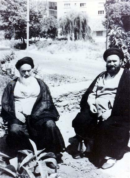 l`Imam Komeini pendant son exil en Irak